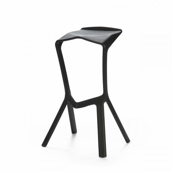 Барный стул Miura 2Барные<br>Дизайнерский барный стул Miura 2 (Миюра) необычной формы с каркасом из полипропилена от Cosmo (Космо). <br><br> Известный немецкий дизайнер Константин Грчик любит экспериментировать. Благодаря смелому видению и умению сочетать практичность и эстетику он получает самые престижные дизайнерские награды, его творения выигрывают призы на конкурсах, некоторые даже являются экспонатами Нью-Йоркского музея современного искусства.ВБарный стул MiuraВ2 — один из таких предметов, эта работа была п...<br><br>stock: 20<br>Высота: 82<br>Высота сиденья: 77.5<br>Ширина: 48<br>Глубина: 40.5<br>Тип материала каркаса: Полипропилен<br>Цвет каркаса: Черный<br>Дизайнер: Konstantin Grcic