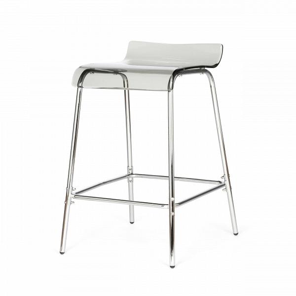 Барный стул AcrylicБарные<br>Дизайнерский прозрачный акриловый барный стул Acrylic (Акрилик) без спинки от Cosmo (Космо). <br>Барный стул Acrylic — одна из моделей мебели одноименной коллекции. Вся линейка состоит из мебели, объединенной одним стилем и материалами исполнения. Acryl, или «акрил» — это материал, который хорош в изготовлении мебели. Он обладает высокой прочностью и устойчивостью к истиранию. Он также водонепроницаем и отлично выдерживает перепады температур.В<br> <br> Данная модель оригинального стула выполн...<br><br>stock: 20<br>Высота: 80<br>Высота сиденья: 68<br>Ширина: 45.5<br>Глубина: 55.5<br>Цвет ножек: Хром<br>Цвет сидения: Дымчатый<br>Тип материала сидения: Акрил<br>Тип материала ножек: Сталь