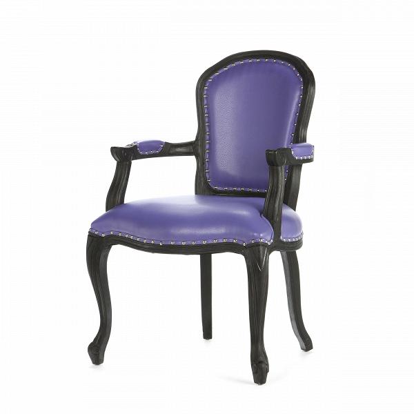 Кресло GrotesqueИнтерьерные<br>Дизайнерское фиолетовое кожаное кресло Grotesque (Гротеск) на длинных ножках от Cosmo (Космо).<br><br><br> Дизайн кресла Grotesque совершенен — изящное и грациозное, оно наполнит ваш интерьер уютом и гармонией. Модель подойдет для использования как дома, так и в ресторане, отеле илиВклубе в качестве обеденного кресла. На каркасе имеется несколько традиционных орнаментов французских провинций, но они не выглядят броскими, отчего дизайн всего изделия весьмаВлаконичен.В<br> <br> Кресло из...<br><br>stock: 3<br>Высота: 97<br>Высота сиденья: 49<br>Ширина: 64<br>Глубина: 62<br>Материал каркаса: Массив гевеи<br>Материал обивки: Кожа регенерированная<br>Тип материала каркаса: Дерево<br>Тип материала обивки: Кожа<br>Цвет обивки: Фиолетовый<br>Цвет каркаса: Черный