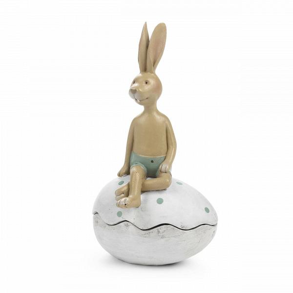 Статуэткa HareНастольные<br>Дизайнерская декоративная статуэтка Hare (Хар) в форме сидящего на ракушке зайца от Cosmo (Космо).<br>         Один из главных приемов создания уютного и привлекательного интерьера — это украшение его разнообразными декоративными элементами, такими как картины, мозаика, декоративная посуда и прочее. Декор должен хорошо сочетаться друг с другом, только в этом случае он поможет вам создать уютную и теплую домашнюю атмосферу.<br><br><br> Статуэтка Hare представляет собой двух прелестных зайчиков, уютно ...<br><br>stock: 5<br>Высота: 19<br>Ширина: 9,3<br>Материал: Смола<br>Цвет: Белый<br>Длина: 10,7<br>Цвет дополнительный: Розовый, зеленый
