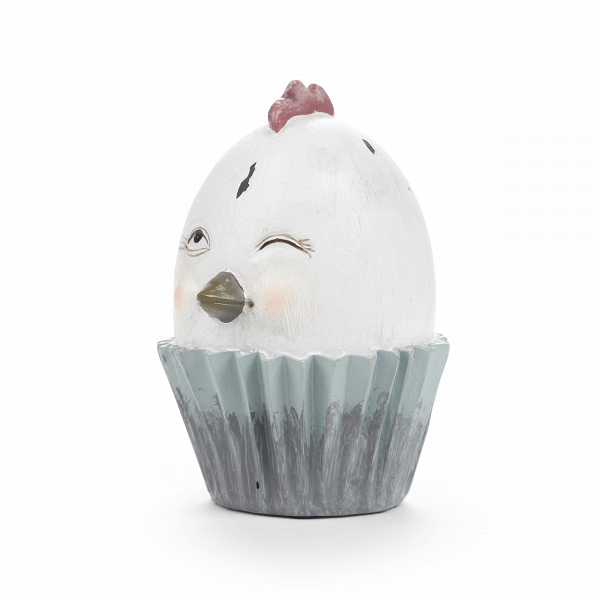 Статуэтка WinkНастольные<br>Дизайнерская маленькая статуэтка Wink (Винк) в форме яйца с куриным клювиком от Cosmo (Космо).<br> Обустройство и оформление внутреннего помещения кухни требует не меньше сил и внимания, чем обустройство гостиной или спальни. Во время приготовления и приема пищи большинство людей хотят чувствовать себя максимально комфортно, поэтому так важно правильно подобрать не только подходящую мебель, но и украшения для кухонного интерьера. Такие украшения должны хорошо сочетаться с уже созданной обстано...<br><br>stock: 22<br>Высота: 10.2<br>Ширина: 7<br>Материал: Смола<br>Цвет: Белый<br>Длина: 7.5<br>Цвет дополнительный: Розовый, голубой