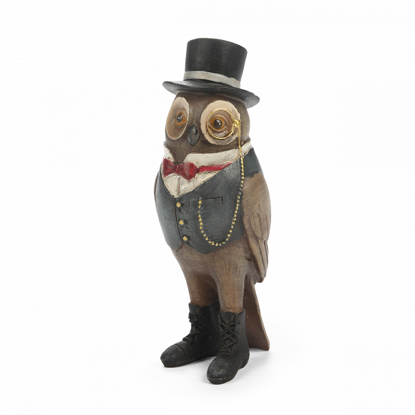 Статуэтка Mr. Owl 2Настольные<br>Дизайнерская маленькая разноцветная статуэтка Mr. Owl (Мр. Оул) из смолы от Cosmo (Космо).<br> Многие предпочитают, чтобы интерьер дома был уютным и теплым, максимально комфортным и навевающим приятные чувства. И не зря, ведь именно дома мы можем расслабиться и насладиться любимой обстановкой. Но не стоит забывать и о веселье и положительных эмоциях — статуэтки или картины, вызывающие улыбку, порадуют как вас, так и всех ваших гостей и создадут замечательное настроение во всем помещении.<br><br><br>...<br><br>stock: 11<br>Высота: 13.5<br>Ширина: 5<br>Материал: Смола<br>Цвет: Разноцветный<br>Длина: 5<br>Цвет дополнительный: Коричневый