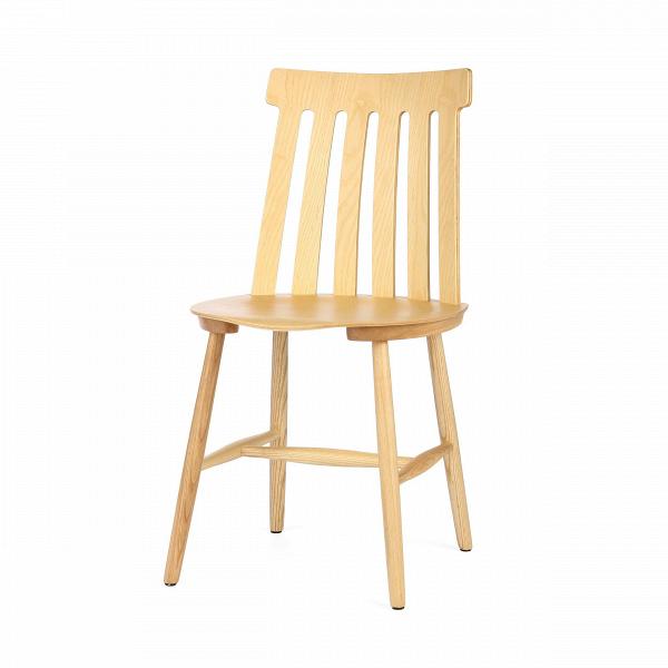 Стул DominoИнтерьерные<br>Дизайнерский деревянный жесткий стул Domino (Домино) классической формы без подлокотников от Cosmo (Космо).<br>Создать уютный и гармоничный интерьер на кухне — задача не из легких, но с ней вполне можно справиться, если подойти к выбору подходящей мебели и декоративных элементов с умом и рационально организовать имеющееся пространство помещения. В данном случае большую роль будут играть обеденный стол и стулья, именно они создадут подходящую атмосферу и займут большее пространство кухни.<br> <br> О...<br><br>stock: 29<br>Высота: 80,3<br>Высота сиденья: 43,8<br>Ширина: 43,5<br>Глубина: 46,5<br>Цвет спинки: Светло-коричневый<br>Материал каркаса: Массив бука<br>Материал спинки: Фанера, шпон бука<br>Тип материала каркаса: Дерево<br>Тип материала спинки: Дерево<br>Цвет каркаса: Светло-коричневый