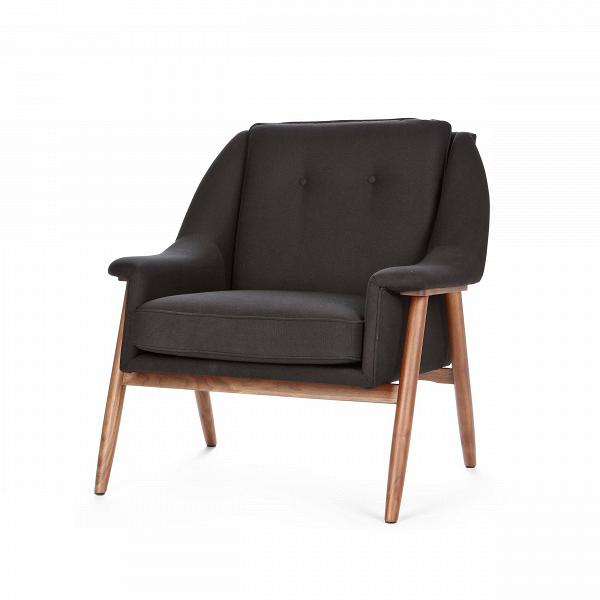 Кресло EdinburgИнтерьерные<br>Дизайнерское широкое комфортное кресло Edinburg (Эденбёрг) на деревянных ножках от Cosmo (Космо).<br><br><br> Кресло для отдыха сВподлокотниками сВпростым иВсовременным дизайном.<br><br><br> Кресло EdinburgВпервоначально было разработано вВ1954 году. Настоящий датский шедевр ручной работы. Это одна из многих работВФинна Юля, датского дизайнера, новатора своего времени, предназначенная для массового производства. <br><br><br>Оригинальное кресло Edinburg построено по органически...<br><br>stock: 4<br>Высота: 81<br>Высота сиденья: 43<br>Ширина: 82<br>Глубина: 82,5<br>Материал каркаса: Массив ореха<br>Материал обивки: Полиэстер<br>Тип материала каркаса: Дерево<br>Коллекция ткани: Gabriel Fabric<br>Тип материала обивки: Ткань<br>Цвет обивки: Черный<br>Цвет каркаса: Орех американский