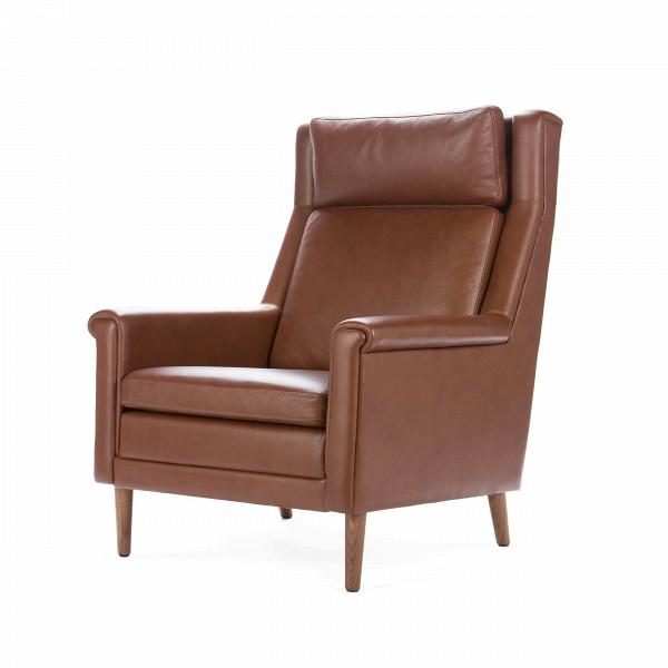 Кресло GraceИнтерьерные<br>Дизайнерское мягкое дизайнерское кресло Wegner 236 (Вегнер 236) с деревянным каркасом от Cosmo (Космо).<br> <br><br>Одна из вариаций популярной классики — роскошноеВкресло Grace от компании Cosmo!<br> В его дизайне нет ничего экстраординарного, все вымерено и выдержано до каждой детали. Лаконичность — одно из важных достоинств модели. Также одним из его безусловных плюсов является качество отобранных материалов — залог долгой службы изделия, гарантия того, что изделие стоит затраченных средств.&amp;...<br><br>stock: 5<br>Высота: 100<br>Высота сиденья: 43,5<br>Ширина: 79<br>Глубина: 85<br>Цвет ножек: Орех американский<br>Материал ножек: Массив ореха<br>Тип материала обивки: Кожа<br>Тип материала ножек: Дерево<br>Цвет обивки: Коричневый
