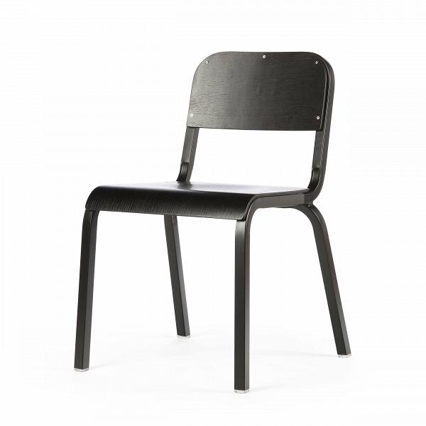 Стул TorsoИнтерьерные<br>Дизайнерский однотонный стул Torso (Торсо) на стальном каркасе с деревянными сиденьем и спинкой от Cosmo (Космо).<br>Стул Torso — классический компонент офисного интерьера. Это штабелируемый стул, лаконичный по форме конструкции и цветовому исполнению. Отличный пример изделия, который впишется в любое рабочее пространство, будьВто офис креативной фотостудии или отдел бухгалтерии.В<br> <br> Поскольку данная оригинальная модель штабелируется, актуально приобретать сразуВнесколько штук....<br><br>stock: 19<br>Высота: 80<br>Высота сиденья: 45<br>Ширина: 54,5<br>Глубина: 56<br>Тип материала каркаса: Сталь<br>Материал сидения: Фанера, шпон дуба<br>Цвет сидения: Черный<br>Тип материала сидения: Дерево<br>Цвет каркаса: Черный матовый