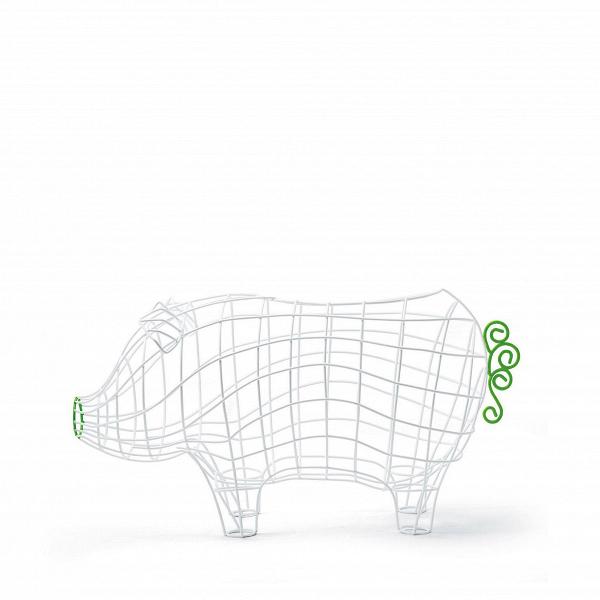 Корзина Fantastico Domestico PigРазное<br>Дизайнерская корзина для хранения в форме свиньи Fantastico Domestico Pig (Фонтастико Доместико Пиг) из белых прутьев от Seletti (Селетти).<br><br><br><br> Корзина Fantastico Domestico Pig из серии корзин Domestico Fantastico. Компания Seletti всегда подходит неординарно к созданию коллекций товаров бытового назначения. «Ну, корзина, ну, для фруктов. Давайте ее сделаем пингвином! Или свиньей? Кроликом! А лучше всеми сразу!» Видно, так и получились с корзинами Domestico Fantastico, а разработала их Ва...<br><br>stock: 1<br>Высота: 27<br>Ширина: 23<br>Материал: Металл<br>Цвет: Белый<br>Длина: 50