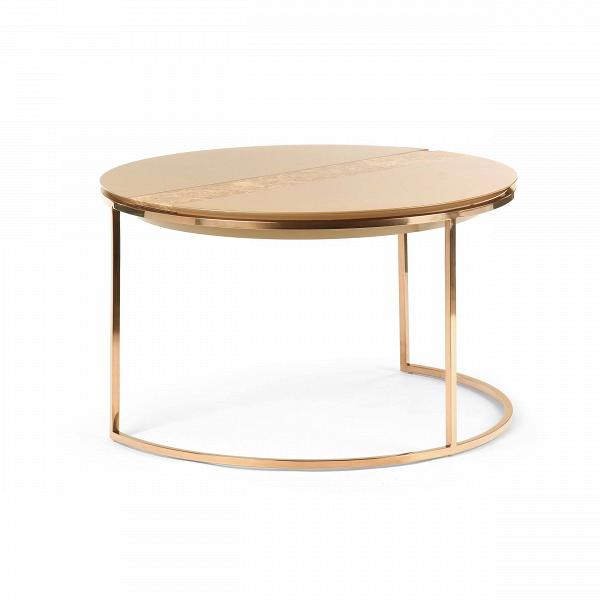 Кофейный стол CimabueКофейные столики<br>Подыскивая для себя функциональный, но в то же время эффектный кофейный стол, обязательно задумайтесь над покупкой кофейного стола Cimabue. Он станет вашей волшебной палочкой в преображении интерьера: блеск столешницы и ножек изделия, натуральный турецкий мрамор и правильная геометрия воплощены в элегантном дизайне, который успел полюбиться большому числу европейцев. Он в два счета сделает ваш интерьер роскошным, но когда пробьет полночь, этот столик не превратится в тыкву! <br> <br> Кофейный сто...<br><br>stock: 0<br>Высота: 47<br>Диаметр: 80<br>Цвет ножек: Розовый хромированный<br>Цвет столешницы: Бежевый<br>Материал столешницы: Стекло<br>Тип материала столешницы: Мрамор<br>Тип материала ножек: Металл