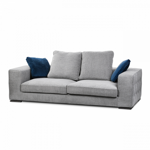 Диван TitanoТрехместные<br>Для того чтобы создать по-настоящему стильный интерьер, компания Cosmo предлагает свое решениеВ— стильный диван Titano. Вся лаконичность данной модели дивана воплощена в цветовом исполнении. Серый — отнюдь не скучный, а напротив, модный и вполне актуальный цвет в дизайне интерьера. Любая единица мебелиВ— стол, шкаф или, как в данном случае, диван — очень легко вписывается в интерьер. Эти предметы легко сочетать как с мебелью из натурального дерева, так и с яркими сочными оттенками д...<br><br>stock: 1<br>Высота: 90<br>Высота сиденья: 36<br>Глубина: 110<br>Длина: 240<br>Цвет ножек: Темно-коричневый<br>Тип материала обивки: Ткань<br>Тип материала ножек: Дерево<br>Цвет обивки: Серый