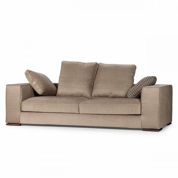 Диван AchillieТрехместные<br>Дизайнерский коричневый диван Achillie (Экилли) с широкими подлокотниками на деревянных ножках от Cosmo (Космо).Оригинальный диван Achillie — та модель, которая превосходно впишется в любой сдержанный современный интерьер. Этот золотой оттенок его обивки отлично сочетается как с деревом в темных, так и светлых тонах. Одно из главных преимуществ в его дизайнеВ— съемный чехол. Дизайнеры четко понимали, что текстильный диванВ— это прежде всего мебель для домашнего интерьера, а в доме м...<br><br>stock: 2<br>Высота: 90<br>Высота сиденья: 42<br>Глубина: 112<br>Длина: 240<br>Цвет ножек: Дымчатый<br>Тип материала обивки: Ткань<br>Тип материала ножек: Дерево<br>Цвет обивки: Коричневый