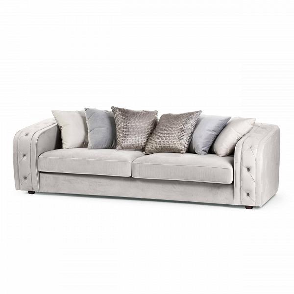 Диван ParideТрехместные<br>Дизайнерский глубокий светло-серый диван Paride (Пэрайд) на деревянных ножках от Cosmo (Космо).БархатВ— популярный в отделке мебели тканевый материал. Он ценится благодаря тактильным свойствам и красоте. Нежный на ощупь и роскошный на вид материал делает мебель по-настоящему изысканной. Величественные залы театров никогда не обходятся без тяжелого бархатного занавеса, свет софитов утопает в их полотне, создавая красивую игру света. Подарите и вы своему интерьеру долю величества и интелли...<br><br>stock: 2<br>Высота: 69<br>Высота сиденья: 39<br>Глубина: 110<br>Длина: 240<br>Цвет ножек: Дуб<br>Тип материала обивки: Ткань<br>Тип материала ножек: Дерево<br>Цвет обивки: Светло-серый