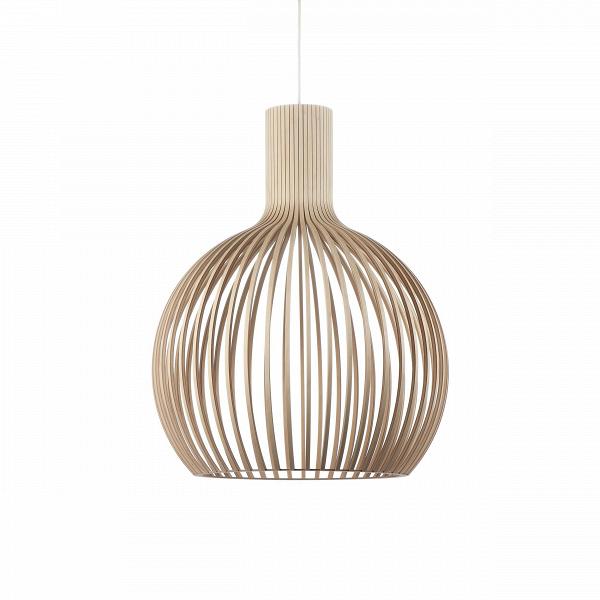 Подвесной светильник Octo 4240Подвесные<br>Подвесной светильник Octo 4240<br><br> Компания Secto Design является финским производителем дизайнерских светильников изВдерева, обретающих всемирную известность. Изготавливаемые вручную высококвалифицированными специалистами изВнатуральной древесины березы, они наделены простотой иВчеткостью скандинавского стиля. Торшеры, подвесные светильники иВнастенные бра, аВтакже настольные лампы обеспечивают мягкое свечение иВпридают атмосферность любому помещению.<br><br><br> Под...<br><br>stock: 0<br>Высота: 68<br>Диаметр: 54<br>Количество ламп: 1<br>Материал арматуры: Береза<br>Мощность лампы: 40<br>Ламп в комплекте: Нет<br>Напряжение: 220<br>Теплота света: 3000<br>Тип лампы/цоколь: E27<br>Цвет арматуры: Натуральный<br>Дизайнер: Seppo Koho