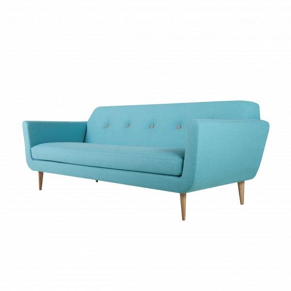 Диван OttoТрехместные<br>Дизайнерский комфортный тканевый диван Otto (Отто) на высоких деревянных ножках от Sits (Ситс).<br>         Трехместные диваны — это самый оптимальный вариант для большинства помещений, такие диваны не займут много места, и в то же время на нем смогут с удобством разместиться несколько человек. Такие диваны очень удобны в домашней обстановке, когда хочется освободить побольше пространства в комнате и сделать ее более уютной и приветливой.<br><br><br> Оригинальный диван Otto ширина 217 — это именно то...<br><br>stock: 0<br>Высота: 77<br>Высота сиденья: 43<br>Глубина: 88<br>Длина: 217<br>Цвет ножек: Беленый дуб<br>Материал обивки: Шерсть, Полиамид<br>Степень комфортности: Стандарт комфорт<br>Материал пуговиц: Шерсть, Полиамид<br>Цвет пуговиц: Светло-серый<br>Коллекция ткани: Категория ткани III<br>Тип материала обивки: Ткань<br>Тип материала ножек: Дерево<br>Цвет обивки: Светло-бирюзовый