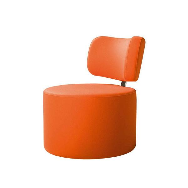 Кресло MokkaИнтерьерные<br>Дизайнерское яркое кресло-пуфик Mokka (Мокка) со спинкой на низких ножках в стиле минимализма от Sits (Ситс).<br><br><br> Любите минимализм и легкие черты в оформлении помещения и в то же время цените уникальный стиль и интересный дизайн мебели? Дизайнеры компании Sits разработали необычное кресло, которое порадует вас не только своим внешним видом, но и необычайным удобством. Кресло цилиндрической формы с удобной, анатомической формы спинкой.<br><br><br> Кресло Mokka<br>имеет чехол, изготовленный из п...<br><br>stock: 0<br>Высота: 76<br>Высота сиденья: 42<br>Ширина: 61<br>Глубина: 68<br>Цвет ножек: Черный<br>Материал обивки: Шерсть, Полиамид<br>Степень комфортности: Стандарт комфорт<br>Коллекция ткани: Категория ткани III<br>Тип материала обивки: Ткань<br>Тип материала ножек: Металл<br>Цвет обивки: Оранжевый