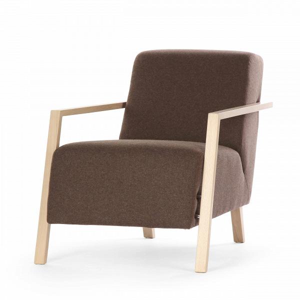 Кресло FoxiИнтерьерные<br>Дизайнерское комфортное однотонное мягкое кресло Foxi (Фокси) с длинным сиденьем от Sits (Ситс).<br><br><br> Кресло Foxi<br>сконструировано выдающимися дизайнерами мебельной компании Sits, которая славится своей мягкой мебелью и аксессуарами для нее. Кресло имеет весьма необычную форму, которая отличается удобством и простотой. Выполненное наподобие компактного шезлонга, кресло имеет длинное сиденье и слегка откинутую назад спинку, что способствует приятному и полноценному отдыху.<br><br><br> Передние ...<br><br>stock: 1<br>Высота: 77<br>Высота сиденья: 43<br>Ширина: 67<br>Глубина: 96<br>Цвет ножек: Беленый дуб<br>Материал обивки: Шерсть, Полиамид<br>Степень комфортности: Стандарт комфорт<br>Форма подлокотников: Стандарт<br>Коллекция ткани: Категория ткани III<br>Тип материала обивки: Ткань<br>Тип материала ножек: Дерево<br>Цвет обивки: Коричневый