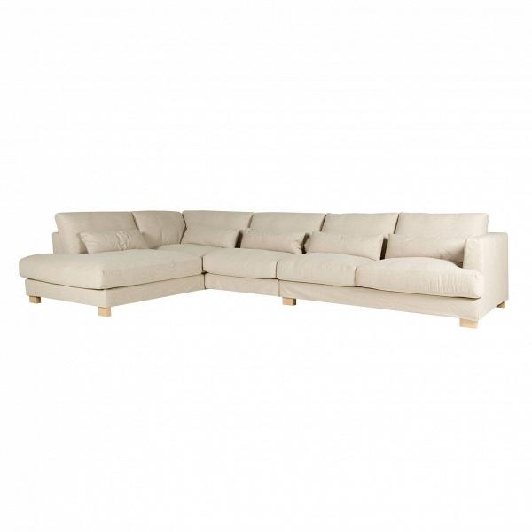 Угловой диван Brandon левосторонний длина 385Угловые<br>Дизайнерский бежевый глубокий тканевый диван Brandon (Брэндон) с люксовой комфортностью от Sits (Ситс).<br> Изысканный дизайн углового дивана Brandon левосторонний длина 385 разработан ведущими дизайнерами компании мягкой мебели Sits. Диван выполнен в лучших традициях классического стиля. Представлен в легком, элегантном светло-бежевом цвете. Есть в нем, однако, и черта, относящая его к современному стилю, это изящные миниатюрные декоративные подушки, которые дополняют весь образ и делают его ...<br><br>stock: 0<br>Высота: 83<br>Высота сиденья: 46<br>Глубина: 108<br>Длина: 385<br>Цвет ножек: Беленый дуб<br>Материал обивки: Вискоза, Хлопок, Полиамид, Лен<br>Степень комфортности: Люкс<br>Форма подлокотников: Стандарт<br>Коллекция ткани: Категория ткани IV<br>Тип материала обивки: Ткань<br>Тип материала ножек: Дерево<br>Цвет обивки: Бежевый