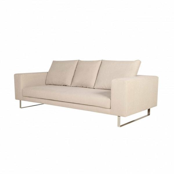 Диван LinneaДвухместные<br>Дизайнерский глубокий светло-бежевый диван Linnea (Линнея) от Sits (Ситс).<br><br><br> Строгая классика в оформлении дивана красиво гармонирует со стальными ножками в стиле хай-тек. Такое сочетание стало частым явлением в современном интерьерном дизайне и способно разбавить даже самую простую обстановку комнаты. Диван выполнен в легком светло-бежевом цвете и имеет три удобные подушки-спинки, благодаря которым диван Linnea отличается особой комфортностью.<br><br><br> Оригинальный диван Linnea обладает ...<br><br>stock: 0<br>Высота: 64<br>Высота сиденья: 40<br>Глубина: 102<br>Длина: 200<br>Цвет ножек: Хром<br>Материал обивки: Хлопок, Лен<br>Степень комфортности: Стандарт комфорт<br>Форма подлокотников: Стандарт<br>Коллекция ткани: Категория ткани II<br>Тип материала обивки: Ткань<br>Тип материала ножек: Сталь нержавеющая<br>Цвет обивки: Светло-бежевый