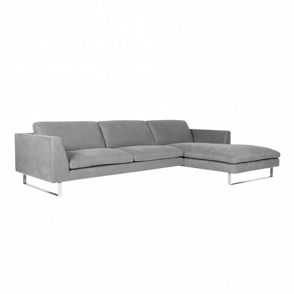 Угловой диван Tokyo правосторонний трехместныйУгловые<br>Дизайнерский комфортный серый глубокий диван Cloud (Токио) на ножках в цвете хром от Sits (Ситс). <br><br> Изысканный и современный стиль дизайнерского дивана Tokyo<br>достигается благодаря ровным легким линиям и формам, а также весьма необычному сочетанию мягкой, теплой текстуры обивки дивана с холодной сталью его ножек. Уникальный дизайн дивана предусматривает как отдых сидя, так и лежа, что весьма универсально и отлично подходит для домашней обстановки просторной гостиной комнаты.<br><br><br> Углово...<br><br>stock: 0<br>Высота: 80<br>Высота сиденья: 43<br>Глубина: 102<br>Длина: 310<br>Цвет ножек: Хром<br>Материал обивки: Хлопок, Лен<br>Степень комфортности: Люкс<br>Форма подлокотников: Стандарт<br>Коллекция ткани: Категория ткани II<br>Тип материала обивки: Ткань<br>Тип материала ножек: Сталь нержавеющая<br>Цвет обивки: Серый