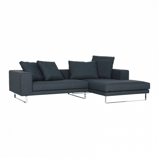 Угловой диван Linnea правостороннийУгловые<br>Дизайнерский комфортный темно-синий диван Linnea (Линея) на высоких ножках от Sits (Ситс).<br> Великолепный угловой диван Linnea правосторонний, созданный ведущими дизайнерами мебельной компании Sits, способен стать незаменимым и ярким элементом любого интерьера. Конструкция углового дивана позволит вам расположиться с максимальным удобством и насладиться полноценным отдыхом с чашечкой чая или любимой книгой. Набор декоративных подушек различного размера поможет вам расслабиться и кроме того в...<br><br>stock: 0<br>Высота: 64<br>Высота сиденья: 40<br>Глубина: 102<br>Длина: 267<br>Цвет ножек: Хром<br>Материал обивки: Хлопок, Лен<br>Степень комфортности: Стандарт комфорт<br>Форма подлокотников: Стандарт<br>Коллекция ткани: Категория ткани II<br>Тип материала обивки: Ткань<br>Тип материала ножек: Сталь нержавеющая<br>Цвет обивки: Тёмно-синий