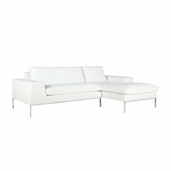 Угловой диван Justus правостороннийУгловые<br>Дизайнерский белый глубокий диван Justus (Джастас) со стандартными подлокотниками от Sits (Ситс).<br> Если создать в доме или офисных комнатах правильную обстановку, грамотно подобрать мебель и красиво оформить помещение, то даже в самую пасмурную погоду в таком помещении вы будете чувствовать себя комфортно и легко, а хороший, светлый дизайн будет поднимать настроение и радовать взгляд любого посетителя.<br><br><br> Угловой диван Justus правосторонний станет отличным решением для интерьера, выполне...<br><br>stock: 0<br>Высота: 78<br>Высота сиденья: 46<br>Глубина: 90<br>Длина: 240<br>Цвет ножек: Хром<br>Материал обивки: Полипропилен, Полиэстер, Хлопок<br>Степень комфортности: Люкс<br>Форма подлокотников: Стандарт<br>Коллекция ткани: Категория ткани III<br>Тип материала обивки: Ткань<br>Тип материала ножек: Сталь нержавеющая<br>Цвет обивки: Белый