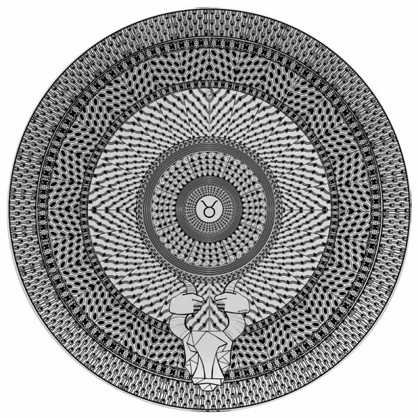 Тарелка знак зодиака ТелецПосуда<br><br><br>stock: 1<br>Материал: Фарфор<br>Диаметр: 25