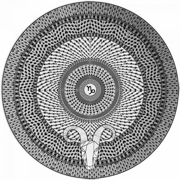 Тарелка знак зодиака 'Козерог'