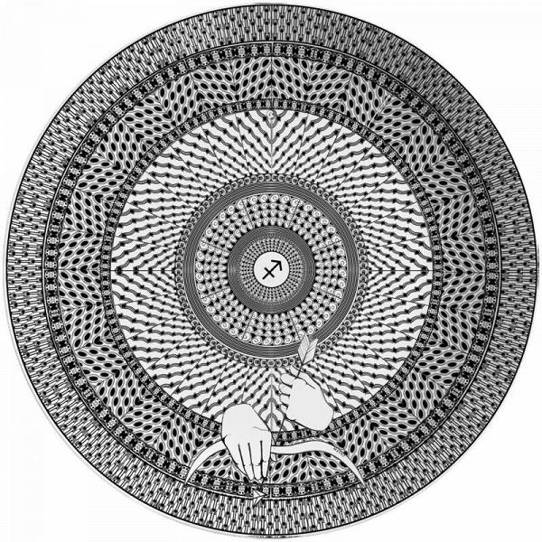 Тарелка знак зодиака 'Стрелец'
