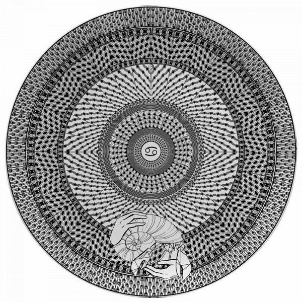 Тарелка знак зодиака РакПосуда<br><br><br>stock: 0<br>Материал: Фарфор<br>Диаметр: 25
