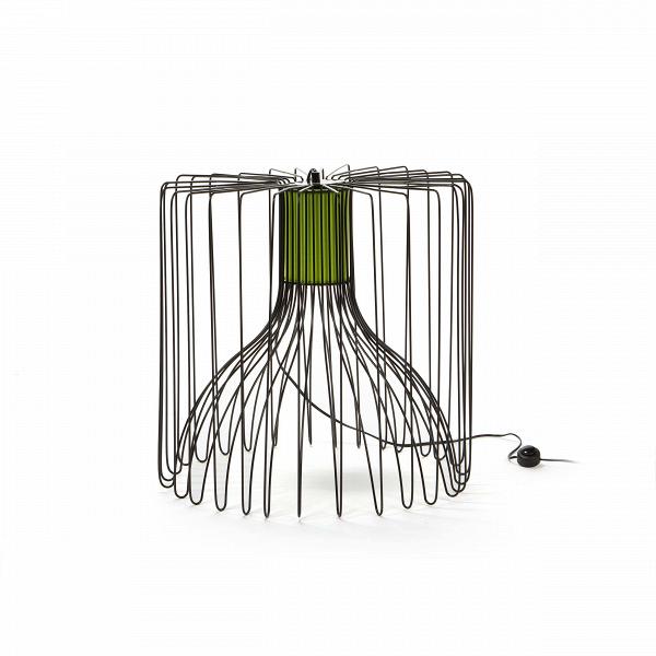 Напольный светильник WireНапольные<br>Дизайнеры компании Cosmo сделали напольный светильник Wire настоящим шедевром современного искусства: минимализм, ни одной лишней детали, стиль и грация в одном предмете. Светильник, как ясно из названия (wire в переводе с английского — «провод», «проволока») изготовлен из множества тонких прутьев, которые сплетаются в оригинальный утонченный абажур.<br><br><br> Прутья абажура изготовлены из прочного металла, в наличии два цвета — белый и черный, что легко подчеркнет любой современный интерьер...<br><br>stock: 0<br>Высота: 50<br>Диаметр: 50<br>Количество ламп: 1<br>Материал абажура: Металл<br>Мощность лампы: 40<br>Ламп в комплекте: Нет<br>Напряжение: 220<br>Тип лампы/цоколь: E27<br>Цвет абажура: Черный