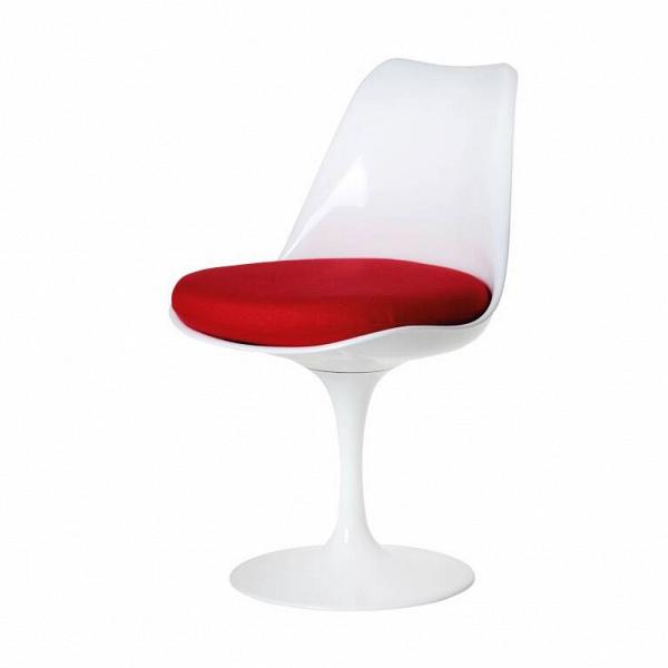 Стул TulipИнтерьерные<br>Дизайнерский стул Tulip (Тьюлип) из стекловолокна на алюминиевой ножке от Cosmo (Космо).<br><br> Стул Tulip — это один из самых знаменитых предметов мебели, он был разработан в 1958 году Ээро Саариненом. Поистине футуристический дизайн и классика модерна. Первый в мире одноногий стул изменил будущее дизайна мебели. Формой стул напоминает бокал или, как видно из названия, — тюльпан. Уникальное основание постамента обеспечивает устойчивость и выглядит эстетически привлекательным. Избавив стул от тр...<br><br>stock: 0<br>Высота: 81<br>Высота сиденья: 46<br>Ширина: 49,5<br>Глубина: 53<br>Цвет ножек: Белый глянец<br>Механизмы: Поворотная функция<br>Тип материала каркаса: Стекловолокно<br>Материал сидения: Шерсть, Нейлон<br>Цвет сидения: Бордовый<br>Тип материала сидения: Ткань<br>Коллекция ткани: B Fabric<br>Тип материала ножек: Алюминий<br>Цвет каркаса: Белый глянец<br>Дизайнер: Eero Saarinen