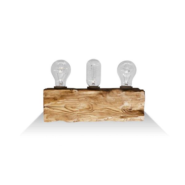 Настенный светильник Cube 3Настенные<br><br><br>stock: 0<br>Высота: 10<br>Ширина: 10<br>Длина: 30<br>Количество ламп: 3<br>Материал абажура: Сосна<br>Мощность лампы: 40<br>Ламп в комплекте: Нет<br>Тип лампы/цоколь: E27<br>Тип производства: Ручное производство<br>Цвет абажура: Дуб
