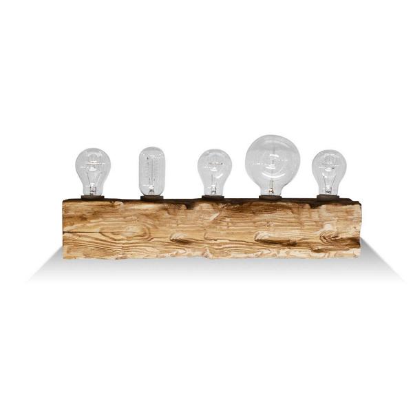 Настенный светильник Cube 5Настенные<br><br><br>stock: 0<br>Высота: 10<br>Ширина: 10<br>Длина: 50<br>Количество ламп: 5<br>Материал абажура: Сосна<br>Мощность лампы: 40<br>Ламп в комплекте: Нет<br>Напряжение: 220<br>Тип лампы/цоколь: E27<br>Тип производства: Ручное производство<br>Цвет абажура: Дуб