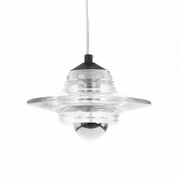 Подвесной светильник Pressed Glass LensПодвесные<br>Подвесной светильник Pressed Glass Lens – один из нескольких моделей серии Pressed Glass работы современного британского дизайнера Тома Диксона (Tom Dixon). Абажуры для этой серии прессуются на промышленных установках, которые гораздо чаще используются для создания автомобильных фар, чем светильников.<br><br><br> Прозрачный абажур позволяет свету беспрепятственно рассеиваться по помещению и создавать необычную игру света, отражаясь от рифлёной поверхности светильника.<br><br><br> Оригинальный дизайн...<br><br>stock: 35<br>Высота: 10<br>Ширина: 23<br>Длина: 23<br>Количество ламп: 1<br>Материал абажура: Стекло<br>Ламп в комплекте: Нет<br>Напряжение: 220<br>Тип лампы/цоколь: E27<br>Цвет абажура: Прозрачный