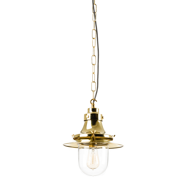 Подвесной светильник Small DecklightПодвесные<br>Подвесной светильник Small Decklight, или «маленький палубный иллюминатор», является внутренним потолочным светильникомВ— напоминанием оВпроисхождении компании Davey Lighting как изготовителя морского освещения.<br><br><br><br> Подвесной светильник Small Decklight идеально впишется вВлюбую комнату, где выВхотелиВбы вызвать «морское» настроение.<br><br>stock: 2<br>Высота: 30<br>Ширина: 27<br>Материал абажура: Стекло<br>Материал арматуры: Металл<br>Мощность лампы: 100<br>Ламп в комплекте: Нет<br>Напряжение: 220<br>Тип лампы/цоколь: E27<br>Цвет арматуры: Латунь