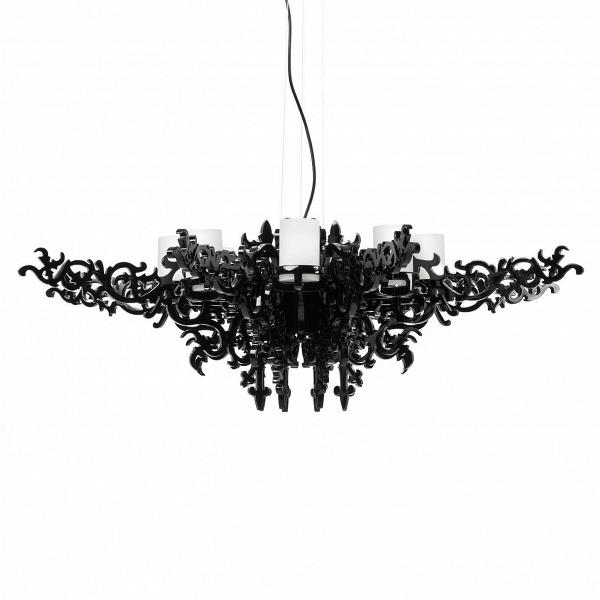 Подвесной светильник Mansion ChandelierПодвесные<br>Люстра Mansion - чистоеВвеликолепие,Впронизанное викторианской эпохой, ноВсотворенное уже вВнаши дни.В<br><br><br> Эта чудесная люстра подарит вашей комнате неВтолько приятное освещение, ноВиВудивительную атмосферу изысканности. Налет старины превосходно сочетается сВалюминиевыми деталями, созданными при помощи инновационных технологий. Люстра излучает мягкий, но насыщенныйВсвет, который придется кВместу иВвВбольших гостевых помещ...<br><br>stock: 7<br>Высота: 150<br>Диаметр: 130<br>Количество ламп: 8<br>Материал абажура: Полистоун<br>Мощность лампы: 40<br>Ламп в комплекте: Нет<br>Напряжение: 220<br>Тип лампы/цоколь: E14<br>Цвет абажура: Черный