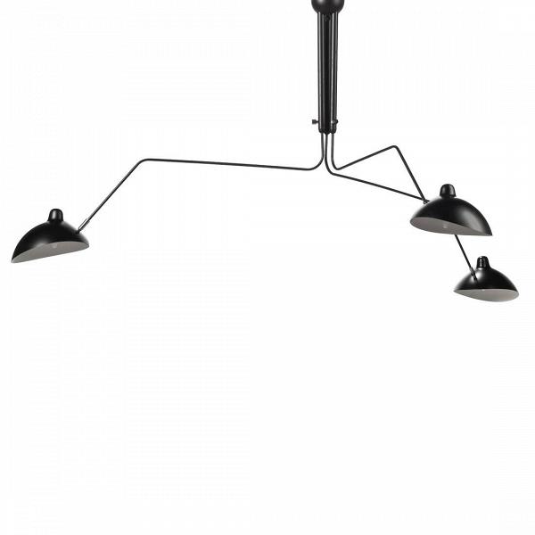 Потолочный светильник Spider Mouille 3 лампыПотолочные<br>Простой иВэлегантный, этот потолочный светильник поставит стильный акцент вВинтерьере вашего помещения. Три вращающиеся иВгнущиеся «руки» разной длины сВлампами с легкостьюВмогут быть повернутыВпод любым удобным вам углом, изменив направление потока света. Центральное освещение более не является популярным в европейских домах и офисах. Пришло время для стильных дизайнерских светильников, изменивших подход в освещении помещений и создающих эффектное освещение,...<br><br>stock: 2<br>Высота: 86,5<br>Диаметр: 267<br>Количество ламп: 3<br>Материал абажура: Алюминий<br>Материал арматуры: Сталь<br>Мощность лампы: 40<br>Ламп в комплекте: Нет<br>Напряжение: 220<br>Тип лампы/цоколь: E27<br>Цвет абажура: Черный матовый<br>Дизайнер: Serge Mouille