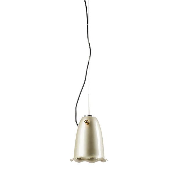 Подвесной светильник Blossom диаметр 16Подвесные<br>Чудесный подвесной светильник Blossom диаметр 16 от нидерландского дизайнера Хеллы Йонгериус буквально создан для любителей действительно оригинальных и нестандартных решений оформления помещения.В<br><br><br> Благодаря незаурядной форме в виде цветка колокольчика светильник можно использовать в детской. А два основных цвета позволяют поместить средство освещения в офис, обыкновенную комнату и даже приемную. Интересный дизайн, высокое качество материала, мягкий приглушенный свет. Зеленый с...<br><br>stock: 14<br>Высота: 170<br>Диаметр: 16,5<br>Количество ламп: 1<br>Материал абажура: Алюминий<br>Мощность лампы: 60<br>Ламп в комплекте: Нет<br>Напряжение: 220<br>Тип лампы/цоколь: E27<br>Цвет абажура: Шампань<br>Дизайнер: Hella Jongerius