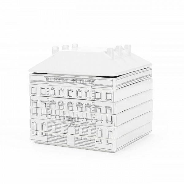 Набор посуды Palazzo SignoriaПосуда<br>Набор посуды Palazzo Signoria — еще один яркий иВоригинальный проект, разработанный итальянским дизайнером Алессандро Дзамбелли поВзаказу компании Seletti. Производитель дизайнерской посуды компания Seletti вВочередной раз разрушает стереотипы повседневности иВрасширяет границы воображения. Архитектурный модульный сервиз наВ6 персон выстроен изВфарфора вВстиле Флорентийского ренессанса.<br><br><br> Дворцы иВбашни разбираются наВчашки, стаканы, та...<br><br>stock: 0<br>Высота: 22<br>Ширина: 22<br>Материал: Керамика<br>Цвет: Белый с узором<br>Диаметр: 22