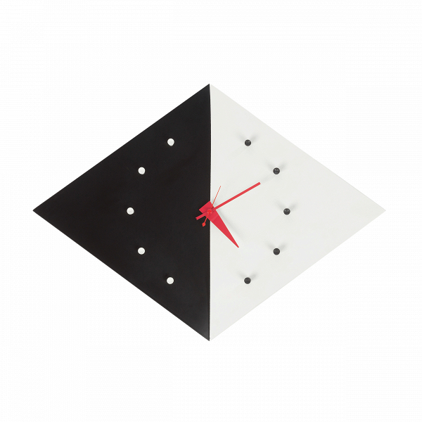 Часы Kite настенныеЧасы<br>Дизайнерские черно-белые настенные часы Kite (Кайт) в форме ромба от Cosmo (Космо).<br><br> ВВобласти часового дела Джордж Нельсон был вВкакой-то степени новатором. ОнВобладал особым талантом иВвзглядом наВмир, выходящим заВрамки его эпохи. ВВего руках часы стали неВпросто инструментом, который отсчитывает время. ОнВразрабатывал неповторимый авторский дизайн для каждого предмета, при этом сохраняя его потребительские свойства. Часы, которые онВсо...<br><br>stock: 0<br>Высота: 11<br>Ширина: 55<br>Материал: Алюминий<br>Цвет: Белый+чёрный/White+black<br>Длина: 41<br>Тип батарейки: AA<br>Дизайнер: George Nelson