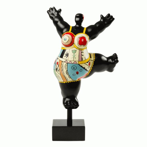 Статуэтка Balance на квадратной подставкеНастольные<br>Дизайнерская разноцветная статуэтка Balance (Баланс) в форме богини Венеры от Cosmo (Космо).<br><br><br> Красота женского тела испокон веков является предметом восхищения множества великих художников, скульпторов, фотографов иВрежиссеров. <br> Это, пожалуй, самый часто встречающийся вВмировой культуре образ. АВодним изВэталонов женской красоты принято считать ВенеруВ— римскую богиню цветущих садов, весны, плодородия, произрастания иВрасцвета всех плодоносящих сил при...<br><br>stock: 8<br>Высота: 29<br>Ширина: 20,5<br>Материал: Полистоун<br>Цвет: Разноцветный/Colorful<br>Диаметр: 13