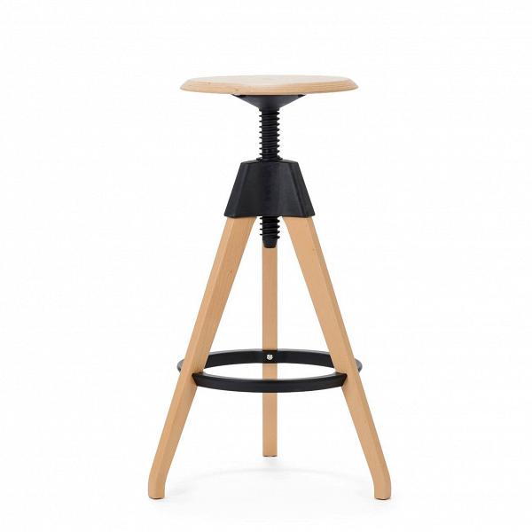 Барный стул JerryБарные<br>Дизайнерский светло-коричневый деревянный барный стул Jerry (Джерри) с цветным каркасом от Cosmo (Космо). <br><br> Игривый и легкий оригинальный барный стул Jerry — это натуральное дерево в комплекте с прочным пластиком. Винтовой механизм, укрепленный под аккуратным сиденьем, позволяет регулировать высоту стула. Устойчивые ножки, выполненные из бука, гармонируют с колористическим решением конструктивных деталей.<br><br><br> Применение такой мебели довольно широко, начиная от скандинавского натурализм...<br><br>stock: 0<br>Высота: 76<br>Высота сиденья: 68-76<br>Диаметр: 45<br>Цвет ножек: Светло-коричневый<br>Материал ножек: Массив бука<br>Тип материала каркаса: Полипропилен<br>Материал сидения: Массив бука<br>Цвет сидения: Светло-коричневый<br>Тип материала сидения: Дерево<br>Тип материала ножек: Дерево<br>Цвет каркаса: Черный<br>Дизайнер: Konstantin Grcic