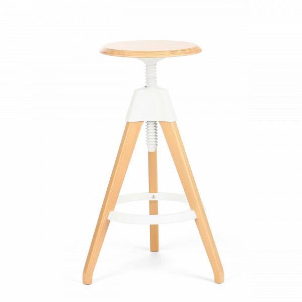 Барный стул JerryБарные<br>Дизайнерский светло-коричневый деревянный барный стул Jerry (Джерри) с цветным каркасом от Cosmo (Космо). <br><br> Игривый и легкий оригинальный барный стул Jerry — это натуральное дерево в комплекте с прочным пластиком. Винтовой механизм, укрепленный под аккуратным сиденьем, позволяет регулировать высоту стула. Устойчивые ножки, выполненные из бука, гармонируют с колористическим решением конструктивных деталей.<br><br><br> Применение такой мебели довольно широко, начиная от скандинавского натурализм...<br><br>stock: 0<br>Высота: 76<br>Высота сиденья: 68-76<br>Диаметр: 45<br>Цвет ножек: Светло-коричневый<br>Материал ножек: Массив бука<br>Тип материала каркаса: Полипропилен<br>Материал сидения: Массив бука<br>Цвет сидения: Светло-коричневый<br>Тип материала сидения: Дерево<br>Тип материала ножек: Дерево<br>Цвет каркаса: Белый<br>Дизайнер: Konstantin Grcic