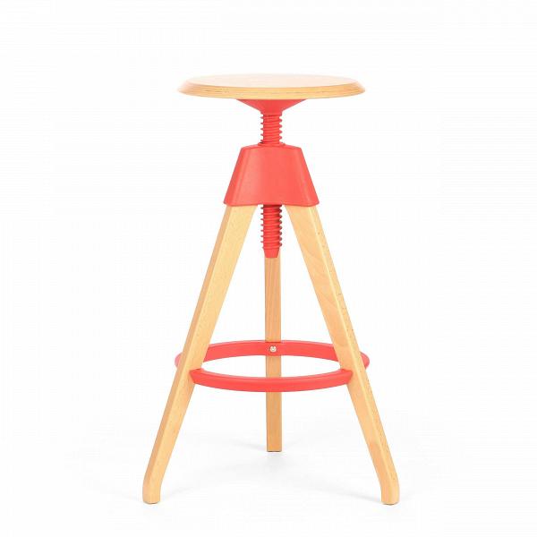 Барный стул JerryБарные<br>Дизайнерский светло-коричневый деревянный барный стул Jerry (Джерри) с цветным каркасом от Cosmo (Космо). <br><br> Игривый и легкий оригинальный барный стул Jerry — это натуральное дерево в комплекте с прочным пластиком. Винтовой механизм, укрепленный под аккуратным сиденьем, позволяет регулировать высоту стула. Устойчивые ножки, выполненные из бука, гармонируют с колористическим решением конструктивных деталей.<br><br><br> Применение такой мебели довольно широко, начиная от скандинавского натурализм...<br><br>stock: 4<br>Высота: 76<br>Высота сиденья: 68-76<br>Диаметр: 45<br>Цвет ножек: Светло-коричневый<br>Материал ножек: Массив бука<br>Тип материала каркаса: Полипропилен<br>Материал сидения: Массив бука<br>Цвет сидения: Светло-коричневый<br>Тип материала сидения: Дерево<br>Тип материала ножек: Дерево<br>Цвет каркаса: Красный<br>Дизайнер: Konstantin Grcic