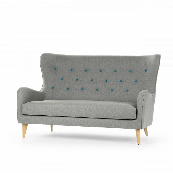 Диван PolaДвухместные<br>Дизайнерский яркий двухместный глубокий диван Pola (Пола) с кнопками от Sits (Ситс).<br><br><br> Дизайнеры компании Sits, чья мебель имеет выраженные шведские черты, не перестает радовать новыми моделями мягкой мебели. Изящные и невероятно удобные формы дивана Pola<br>помогут вам расслабиться и отдохнуть даже в самый разгар трудового дня. На выбор имеется большое количество вариантов цветового исполнения обивки кресла, благодаря чему вы легко подберете именно то, что лучше всего подойдет вашей ко...<br><br>stock: 0<br>Высота: 102<br>Высота сиденья: 45<br>Глубина: 98<br>Длина: 164<br>Цвет ножек: Дуб<br>Материал обивки: Шерсть, Полиамид<br>Степень комфортности: Стандарт комфорт<br>Материал пуговиц: Шерсть, Полиамид<br>Цвет пуговиц: Бирюзовый<br>Коллекция ткани: Категория ткани III<br>Тип материала обивки: Ткань<br>Тип материала ножек: Дерево<br>Цвет обивки: Светло-серый