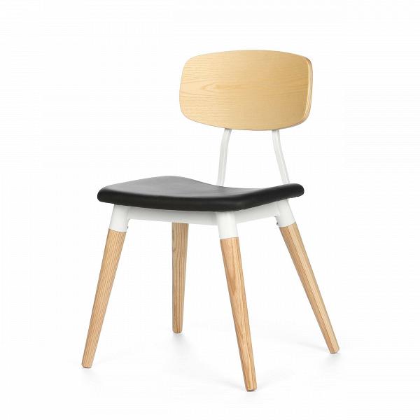Стул CopineИнтерьерные<br>Дизайнерский стул SD9187US простой формы из дерева и металла с кожаным сиденьем от Cosmo (Космо).<br><br> Стул Copine — это гармоничное сочетание простоты и стильности. Минималистичное решение отсылает нас к модернизму середины ХХ века, продуманность деталей обеспечивает максимальный комфорт. Эргономичной формы сиденье и спинка при всей своей кажущейся незамысловатости очень удобны, аккуратные устойчивые ножки не будут скользить благодаря специальным насадкам — продуман буквально каждый элемент.<br>...<br><br>stock: 3<br>Высота: 81<br>Высота сиденья: 45<br>Ширина: 51,5<br>Глубина: 51<br>Цвет ножек: Светло-коричневый<br>Цвет спинки: Светло-коричневый<br>Материал ножек: Массив ясеня<br>Материал спинки: Массив ясеня<br>Тип материала каркаса: Сталь<br>Цвет сидения: Черный<br>Тип материала спинки: Дерево<br>Тип материала сидения: Кожа<br>Коллекция ткани: Standart Leather<br>Тип материала ножек: Дерево<br>Цвет каркаса: Белый<br>Дизайнер: Sean Dix