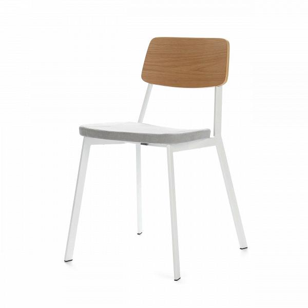 Стул Gauge 3Интерьерные<br>Дизайнерский легкий стул Gauge 3 (Гаудж 3) на металлическом каркасе с тканевым сиденьем и деревянной спинкой от Cosmo (Космо).<br><br>     Много не значит хорошо. По всей видимости, именно этим утверждением руководствовались дизайнеры интерьерного стула Gauge 3. Универсальная цветовая гамма, лаконичная форма и минимум деталей стали определяющими чертами в дизайне стула. Несмотря на отсутствие видимых изогнутых линий стул смотрится вполне изящно. <br><br> Где бы выВни решили использовать оригинал...<br><br>stock: 22<br>Высота: 75<br>Высота сиденья: 46<br>Ширина: 45,5<br>Глубина: 50<br>Цвет спинки: Дуб<br>Материал спинки: Фанера, шпон дуба<br>Тип материала каркаса: Сталь<br>Материал сидения: Хлопок, Лен<br>Цвет сидения: Светло-серый<br>Тип материала спинки: Дерево<br>Тип материала сидения: Ткань<br>Коллекция ткани: Ray Fabric<br>Цвет каркаса: Белый