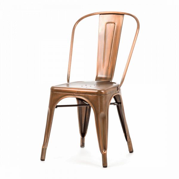 Стул MaraisИнтерьерные<br>Дизайнерский стальной жесткий стул Marais (Мэрейс) необычной формы без подлокотников от Cosmo (Космо).<br><br>     Сталь и больше ничего. Блестящее применение этого простого материала демонстрирует стул Marais. Тонкая стальная трубка с широкой вертикальной панелью образует спинку, сиденье с едва заметным углублением и несколькими декоративными отверстиями аккуратно приварено к цельному каркасу ножек, пространство между которыми оформлено в виде арок, гармонируя со спинкой и придавая предмету легк...<br><br>stock: 0<br>Высота: 85<br>Высота сиденья: 45<br>Ширина: 46<br>Глубина: 51<br>Тип материала каркаса: Сталь<br>Цвет каркаса: Медь антикварная<br>Дизайнер: Xavier Pauchard