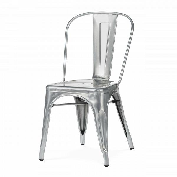 Стул MaraisИнтерьерные<br>Дизайнерский стальной жесткий стул Marais (Мэрейс) необычной формы без подлокотников от Cosmo (Космо).<br><br>     Сталь и больше ничего. Блестящее применение этого простого материала демонстрирует стул Marais. Тонкая стальная трубка с широкой вертикальной панелью образует спинку, сиденье с едва заметным углублением и несколькими декоративными отверстиями аккуратно приварено к цельному каркасу ножек, пространство между которыми оформлено в виде арок, гармонируя со спинкой и придавая предмету легк...<br><br>stock: 14<br>Высота: 85<br>Высота сиденья: 45<br>Ширина: 46<br>Глубина: 51<br>Тип материала каркаса: Сталь<br>Цвет каркаса: Гальванизированный<br>Дизайнер: Xavier Pauchard