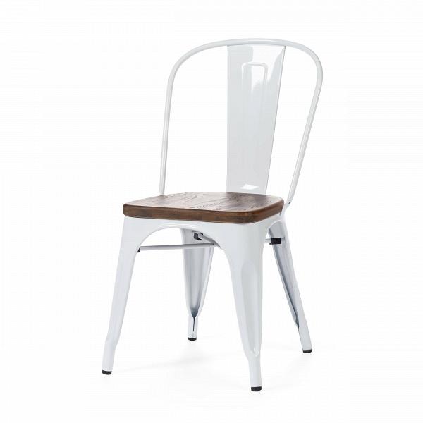 Стул Marais WoodИнтерьерные<br>Дизайнерский креативный жесткий стул Marais Wood (Мэрейс Вуд) на стальном каркасе с сиденьем из дерева от Cosmo (Космо).<br><br>     В современном мире не существует единого правила для создания интерьера, это вопрос личных предпочтений. Кто-то любит наличие картин в золоченых резных рамах, кто-то увлекается яркими восточными коврами и рогожками, а кому-то ближе холодный приглушенный блеск металла и промышленный дизайн в оформлении жилища.<br><br><br> Стул Marais WoodВ — это именно индустриальный ...<br><br>stock: 0<br>Высота: 85<br>Высота сиденья: 45<br>Ширина: 46<br>Глубина: 51<br>Тип материала каркаса: Сталь<br>Материал сидения: Массив ивы<br>Цвет сидения: Темно-коричневый<br>Тип материала сидения: Дерево<br>Цвет каркаса: Белый<br>Дизайнер: Xavier Pauchard