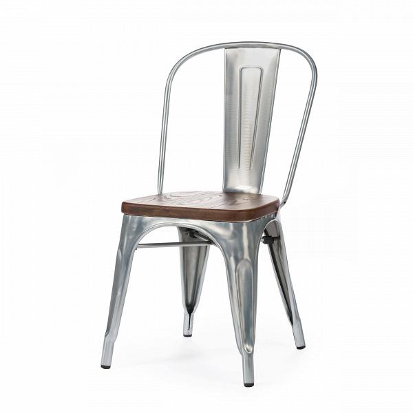Стул Marais WoodИнтерьерные<br>Дизайнерский креативный жесткий стул Marais Wood (Мэрейс Вуд) на стальном каркасе с сиденьем из дерева от Cosmo (Космо).<br><br>     В современном мире не существует единого правила для создания интерьера, это вопрос личных предпочтений. Кто-то любит наличие картин в золоченых резных рамах, кто-то увлекается яркими восточными коврами и рогожками, а кому-то ближе холодный приглушенный блеск металла и промышленный дизайн в оформлении жилища.<br><br><br> Стул Marais WoodВ — это именно индустриальный ...<br><br>stock: 0<br>Высота: 85<br>Высота сиденья: 45<br>Ширина: 46<br>Глубина: 51<br>Тип материала каркаса: Сталь<br>Материал сидения: Массив ивы<br>Цвет сидения: Темно-коричневый<br>Тип материала сидения: Дерево<br>Цвет каркаса: Гальванизированный<br>Дизайнер: Xavier Pauchard